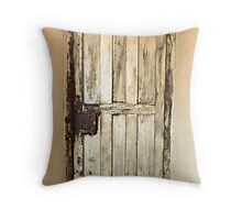 sacristy door Throw Pillow