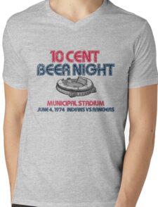 10 Cent Beer Night Mens V-Neck T-Shirt