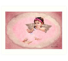 Victorian Style Angel ~ Baby Girl Art Print