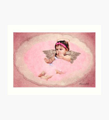 Victorian Style Angel ~ Baby Girl Art Print