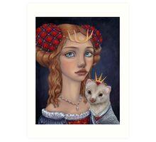 Lady with a Ferret Art Print