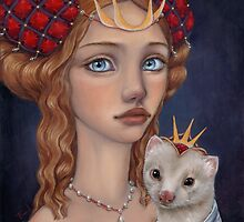 Lady with a Ferret by tanyabond