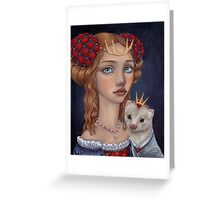 Lady with a Ferret Greeting Card