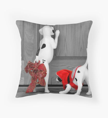 Christmas Pups Throw Pillow