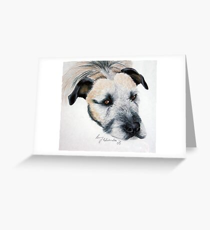 My wolfhound Brutal Greeting Card