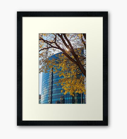 USA. Connecticut. Hartford. Downtown. Framed Print