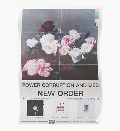 Power, Corruption & Lies vintage style whitewashed poster Poster