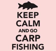 Keep calm and go carp fishing Kids Tee