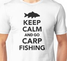 Keep calm and go carp fishing Unisex T-Shirt