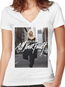 Bebe Rexha - All your Fault Women's Fitted V-Neck T-Shirt