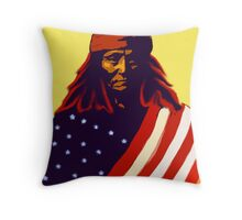 Apche War Chief Throw Pillow