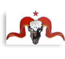 Turbo Ram Skull Metal Print