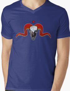 Turbo Ram Skull Mens V-Neck T-Shirt