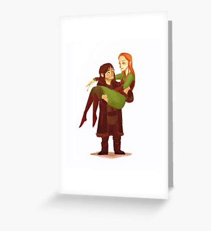 Love comes in all sizes Greeting Card