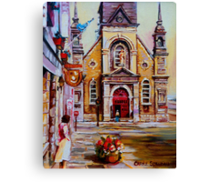 CANADIAN URBAN PAINTINGS MONTREAL SCENES BY CANADIAN ARTIST CAROLE SPANDAU Canvas Print