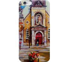 CANADIAN URBAN PAINTINGS MONTREAL SCENES BY CANADIAN ARTIST CAROLE SPANDAU iPhone Case/Skin