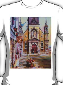 CANADIAN URBAN PAINTINGS MONTREAL SCENES BY CANADIAN ARTIST CAROLE SPANDAU T-Shirt