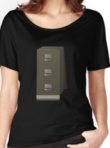 Glitch Groddle Land cubicle cabinet base Women's Relaxed Fit T-Shirt