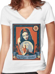 I Am A Mother Lover Women's Fitted V-Neck T-Shirt