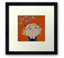 Lola with Butterfly Kisses Framed Print