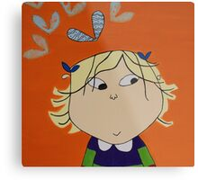 Lola with Butterfly Kisses Metal Print