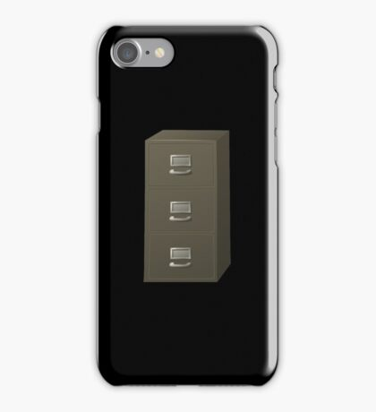 Glitch Groddle Land cubicle cabinet stack iPhone Case/Skin