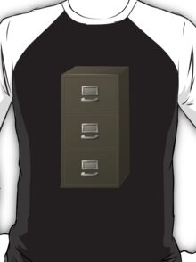 Glitch Groddle Land cubicle cabinet stack T-Shirt