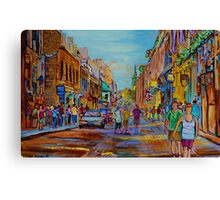 PAINTINGS OF THE OLD CITY OF MONTREAL CANADIAN URBAN SCENES BY CANADIAN ARTIST CAROLE SPANDAU Canvas Print