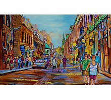 PAINTINGS OF THE OLD CITY OF MONTREAL CANADIAN URBAN SCENES BY CANADIAN ARTIST CAROLE SPANDAU Photographic Print