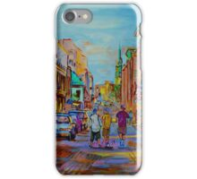 PAINTINGS OF THE OLD CITY OF MONTREAL CANADIAN URBAN SCENES BY CANADIAN ARTIST CAROLE SPANDAU iPhone Case/Skin