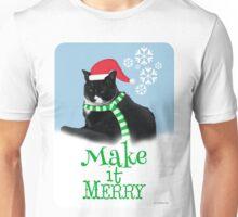 Funny Holiday Tuxedo Cat Unisex T-Shirt
