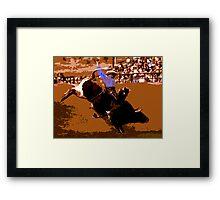 Bull Riden' Framed Print