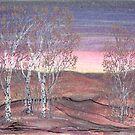 Birches at Dawn by Regina Valluzzi