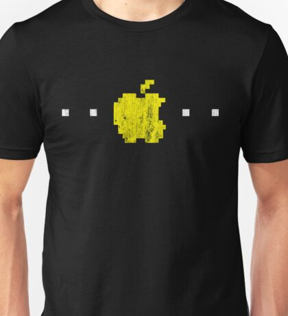 Apple PacMan Distressed Logo Unisex T-Shirt