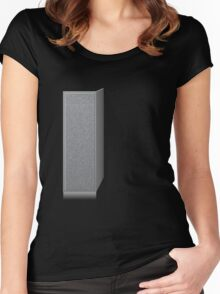 Glitch Groddle Land cubicle wall left Women's Fitted Scoop T-Shirt