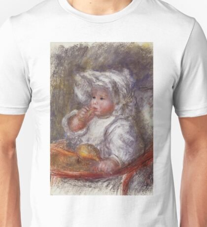 Auguste Renoir - Jean Renoir In A Chair Child With A Biscuit Unisex T-Shirt