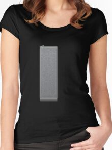 Glitch Groddle Land cubicle wall right Women's Fitted Scoop T-Shirt