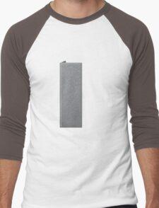 Glitch Groddle Land cubicle wall right Men's Baseball ¾ T-Shirt