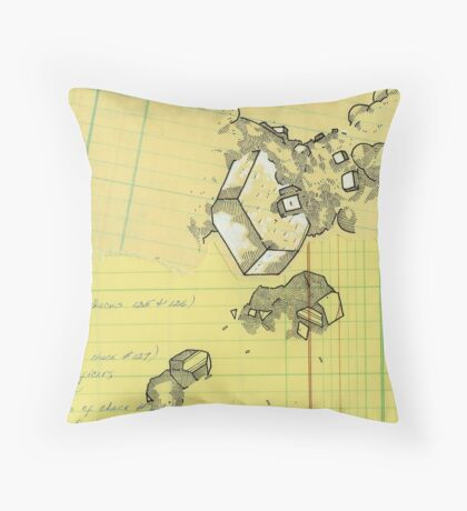 geologic record Throw Pillow