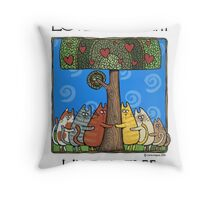 Tree-huggers Throw Pillow