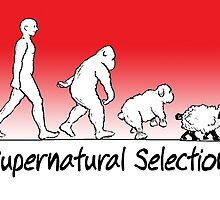 Supernatural Selection (on Light colors) by atheistcards