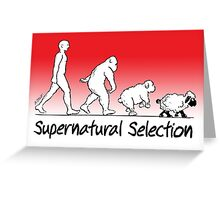 Supernatural Selection (on Light colors) Greeting Card