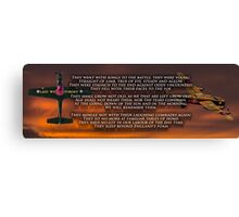 Ode Of Remembrance Canvas Print