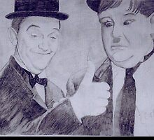 Laurel and Hardy by cazzm