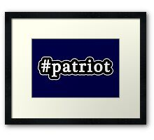 Patriot - Hashtag - Black & White Framed Print