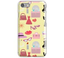 Retro Girly Glam Pattern iPhone Case/Skin