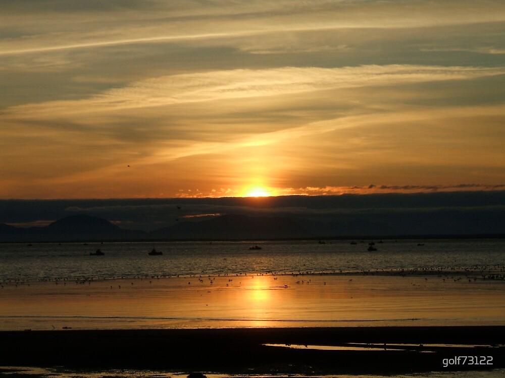 Sunset Of Ekuk Alaska Beachfront by golf73122