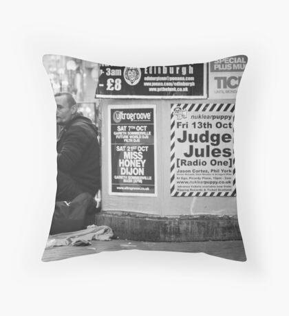Street Performer Throw Pillow