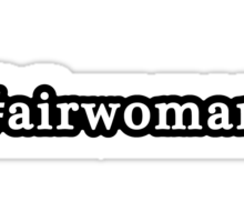 Airwoman - Hashtag - Black & White Sticker