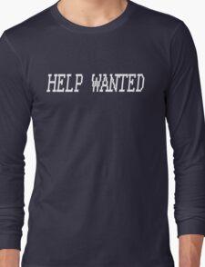 Help Wanted Tee (White) Long Sleeve T-Shirt